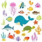 Gullig undervattens- värld stock illustrationer