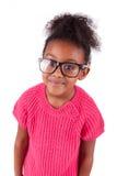 Gullig ung afrikansk amerikanflicka Royaltyfri Bild