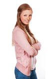 Gullig ung attraktiv studentflicka Royaltyfri Bild