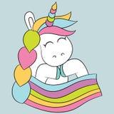 gullig unicorn Royaltyfri Fotografi