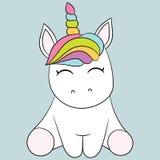 gullig unicorn Arkivfoto
