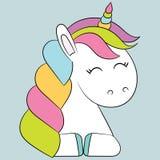 gullig unicorn Royaltyfria Foton