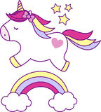 gullig unicorn Arkivfoton