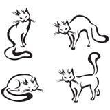 gullig utgångspunkt för katt vektor illustrationer