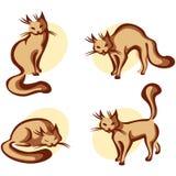 gullig utgångspunkt för katt royaltyfri illustrationer