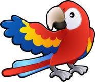 gullig vänlig sjuk macawpapegoja royaltyfri illustrationer