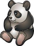 gullig vänlig sjuk pandavektor stock illustrationer
