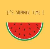 Gullig vattenmelon det sommartid för ` s vektor illustrationer