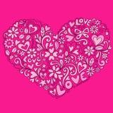 gullig vektor för klotterhjärtaillustration Arkivfoto