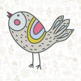 Gullig vektorfågel Royaltyfri Illustrationer