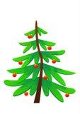 Gullig vektorillustration för julgran Royaltyfri Fotografi