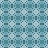 Gullig vintersnowflakesmodell Arkivfoto