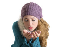 Gullig vinterstående Royaltyfria Bilder