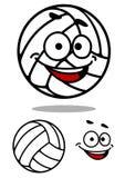 Gullig volleybollboll för tecknad film Fotografering för Bildbyråer