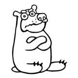 Gullig vresig tecknad filmbjörn också vektor för coreldrawillustration Royaltyfri Fotografi