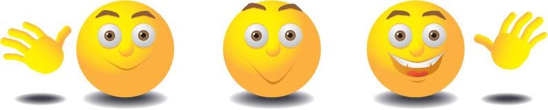 gullig yellow för emoticons tre Royaltyfri Bild