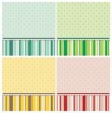 Gulliga bakgrunder i olika färger. royaltyfri illustrationer