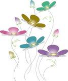 Gulliga blommor Arkivbild