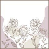 gulliga blommor för kort Royaltyfria Bilder
