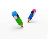 gulliga blyertspennor Arkivfoto