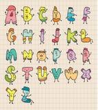 gulliga bokstäver för tecknad film vektor illustrationer