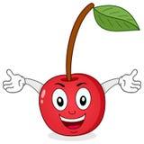 Gulliga Cherry Cartoon Character vektor illustrationer