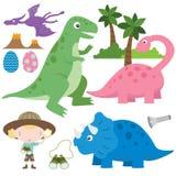 gulliga dinosaurs stock illustrationer
