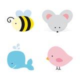 gulliga djur royaltyfri illustrationer