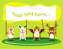 Gulliga djur tiger kanin, örn, hjort royaltyfri illustrationer