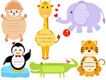 Gulliga djura symboler/märker/etiketten Fotografering för Bildbyråer