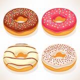 Gulliga donuts Arkivbilder