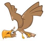 Gulliga Eagle Cartoon Character stock illustrationer