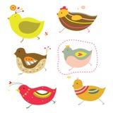 gulliga fågelungar royaltyfri illustrationer