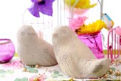 Gulliga fåglar Arkivfoton