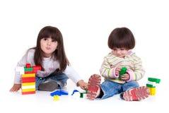 gulliga flickor little två fotografering för bildbyråer