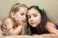 gulliga flickor little två Royaltyfri Fotografi