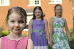 gulliga flickor tre Arkivbilder