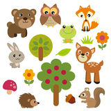 Gulliga Forest Animals vektor illustrationer