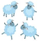 gulliga fyra lambs stock illustrationer