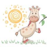 Gulliga giraffdjur Idé för tryckt-skjorta royaltyfri illustrationer