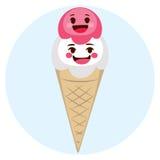 Gulliga glassvänner royaltyfri illustrationer