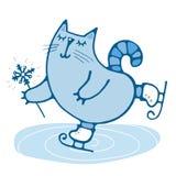Gulliga hand-drog kattskridskor Royaltyfri Foto
