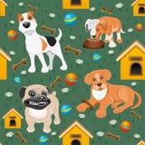 gulliga hundar royaltyfri illustrationer