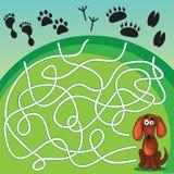 Gulliga hunds lek stock illustrationer