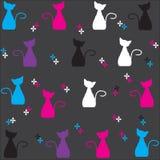 Gulliga katter royaltyfri illustrationer