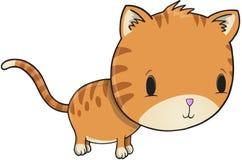 Gulliga Kitten Vector Fotografering för Bildbyråer