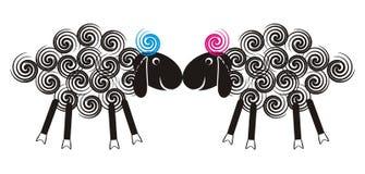 Gulliga lambs stock illustrationer