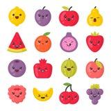Gulliga le frukter, isolerad färgrik vektorsymbolsuppsättning vektor illustrationer