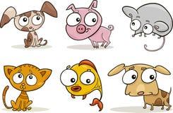 gulliga lilla husdjur vektor illustrationer