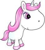 Gulliga lyckliga Unicorn Vector Royaltyfri Fotografi